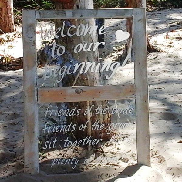 Sign - Rustic Window Welcome