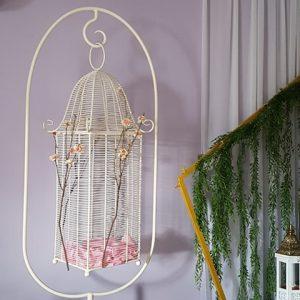 Vintage bird cage wishing well