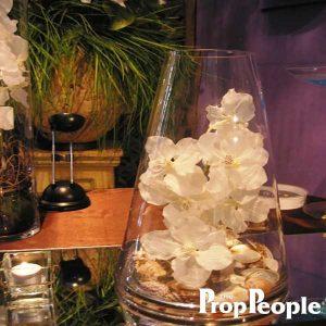 Glass Triangle Vase