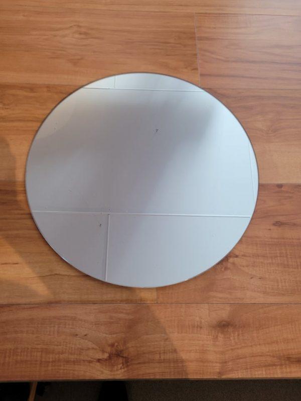 40cm round glass mirror